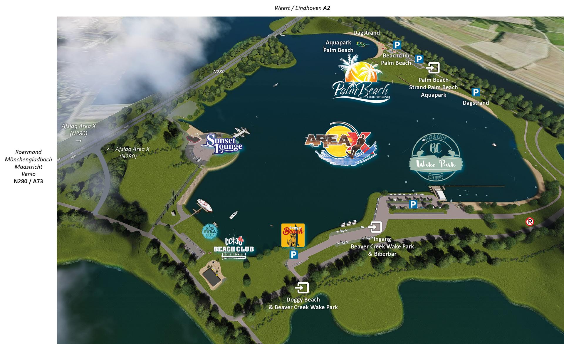Area_X_Roermond-plattegrond-dagstrand_wakeboardanlage_wakeboardbaan